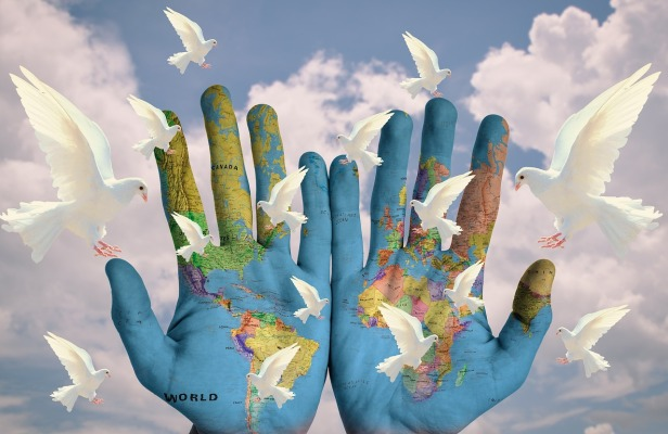 Peace Continents World Earth Harmony Hope